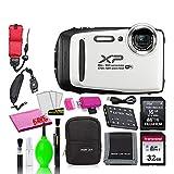 Fujifilm FinePix XP130 Waterproof Digital Camera (White) Accessory Bundle...