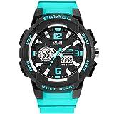 SMAEL Women's Sport Wrist Watch Quartz Dual Movement with Analog-Digital Display Watches for Women...