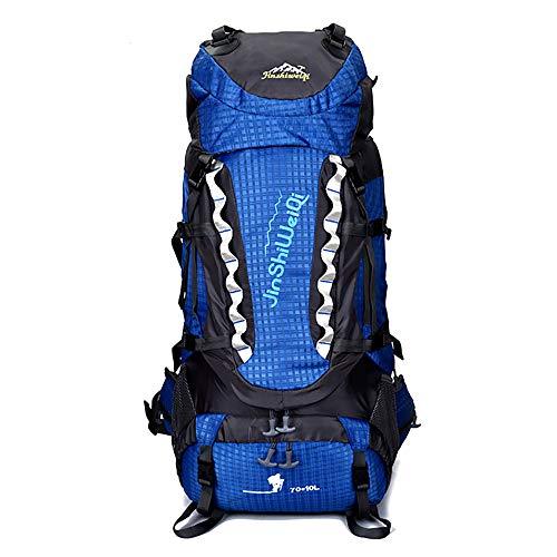 Skytower 80L Senderismo Mochila Mochilas Soporte de Marco Interno para Excursionismo al Aire Libre Viajes Escalada Camping Bolsa de montañismo Impermeable en la Cima de la montaña (Azul 3)
