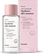Hanskin Real Complexion Hyaluronic Skin Essence - Hyaluron Acid, Moisturizing, Glowing, Soft & Fragrance-Free. Hanskin Official. [300 ml]