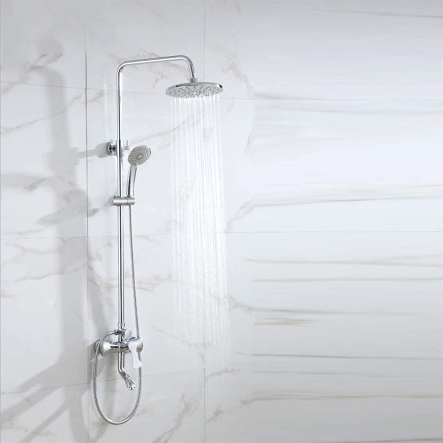 LPW shower set bathroom shower set copper shower concealed third gear shower set simple hand shower wall mounted shower
