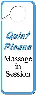 Graphics and More Quiet Please Massage in Session Plastic Door Knob Hanger Sign