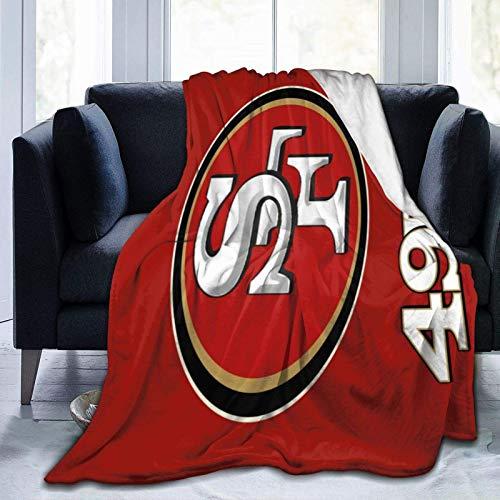 N \\ A San Francisco City 49ers superweiche, flauschige, leichte warme Decke für Bett, Couch, Stuhl, Herbst, Winter, Frühling, Wohnzimmer, mehrere Größen, 127 x 101,6 cm