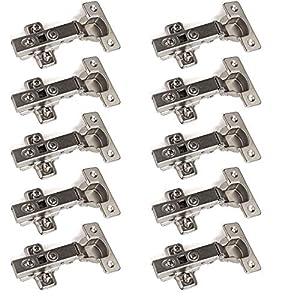 """10 x SO-TECH® Bisagra """"T45"""" Cobertura Total con Amortiguador + Placa de Montaje (disponible como set de 10, 20 y 30!)"""