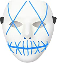Halloween Mask LED Light Up Scary Mask for Festival Cosplay Halloween Masquerade Costume Parties