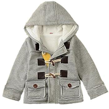 GETUBACK Baby Boy s Hooded Fleece Coat Winter Outwear 3T Grey