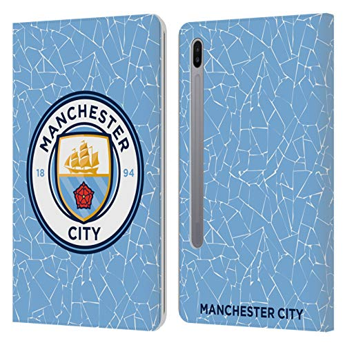 Official Manchester City Man City FC Home 2020/21 Badge Kit Leather Book Wallet Case Cover Compatible For Samsung Galaxy Tab S6 (2019)