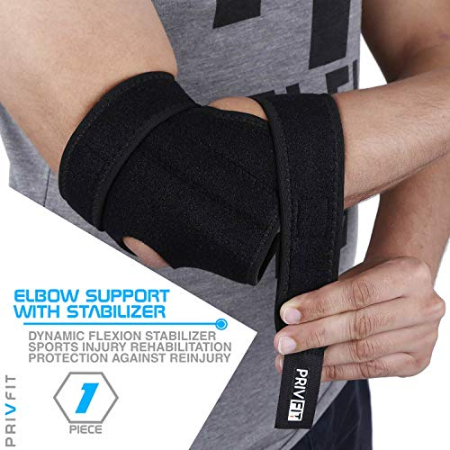 Privfit Elbow Support Compression Stabilizer, Adjustable, Breathable Brace for Joint Pain Relief - Pack of one