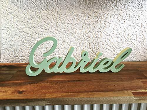 Schriftzug aus Holz/Wunschname - lackiert