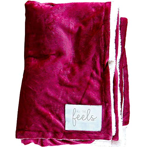 All the Feels | Premium Reversible Blanket | King | Beet Red | You Buy One-We Give One | Super Soft Cozy Blanket | Machine Washable