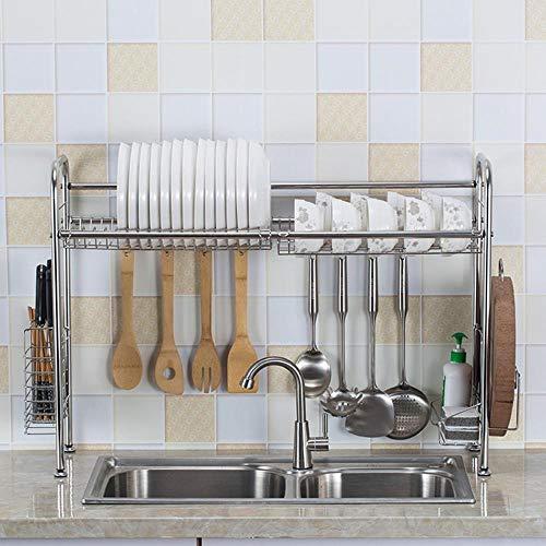 Rejilla para platos, rejilla para secar, rejilla para escurrir, cocina de acero inoxidable para el hogar