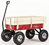 Toby All Terrain Wagon Pull Cart Red - Europe's best selling pull along metal retro trolley. CE Certified for child safety. child kids garden festival trolley toys truck 'as seen on TV'