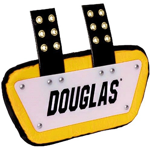 Douglas Custom Pro CP Series Removable Football Back Plate - 4 Inch - White/Green
