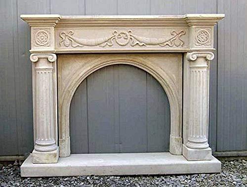 Kamin Kaminumrandung Steinkamin fireplace H 110 B 140 T 31 Farbe sandstein