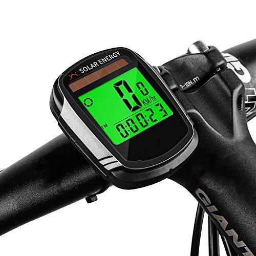 HJTLK Computadora de Bicicleta, velocímetro Cuentakilómetros Computadora de Ciclismo Multifuncional Impermeable Energía...