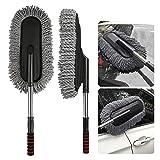 TOUARETAILS Microfiber Flexible Car Cleaning Duster Car Wash Dust Wax Mop Car Washing Brush