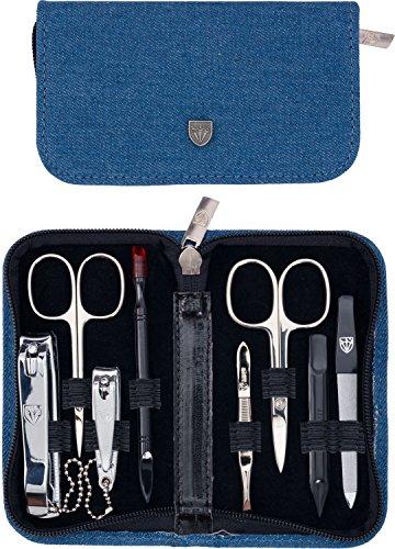 3 Swords Germany - Set para el cuidado de las uñas ´Salamanca` de viaje con estuche para manicura y pedicura - Calidad de marca by 3 Swords (7711)