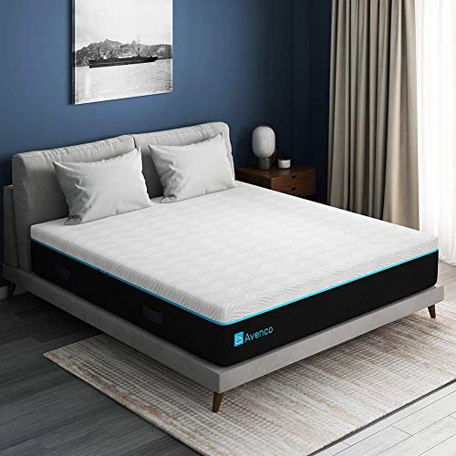King Mattress, Avenco King Size Mattress 11 Inch, King Size Memory Foam Mattress in a Box, Cooling Gel Foam with Removable and Washable Cover, Medium Firm, Ultimate Supportive, CertiPUR-US & ISPA