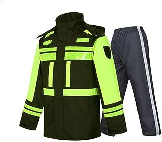 Qivor Waterproof clothing Winter Raincoat Warm Padded Raincoat Reflective Waterproof Windproof Winter Clothes Men's snow r...