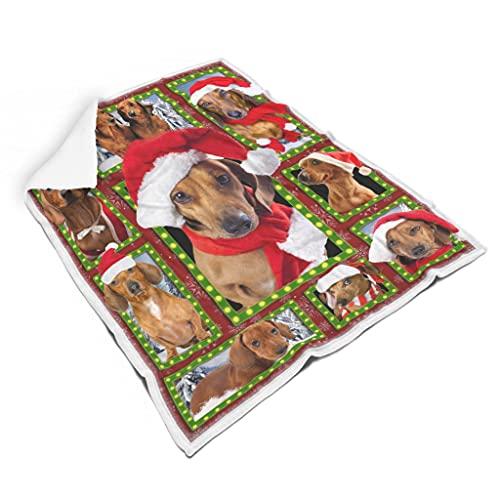 TDSEBM Manta suave para cachorros de Navidad, ligera, divertida, para sofá, cama, color blanco, 152 x 203 cm