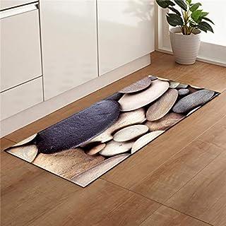 HLXX Strand sten skal tryck kök halkfri matta matta modern vardagsrum balkong badrumsmatta dörrmatta A10 60 x 180 cm
