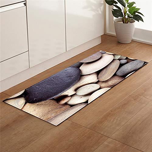 HLXX Playa piedra Shell impresión cocina antideslizante alfombra moderna sala de estar balcón baño alfombra puerta mat A10 50x80cm