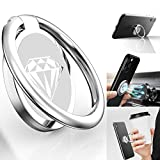 Phone Ring Holder Finger Kickstand, A-Maker 360° Rotation Metal Phone Ring Stand,Phone Ring Grip for Magnetic Car Mount Compatible with iPhone, Samsung Galaxy All Smartphone (Silver)
