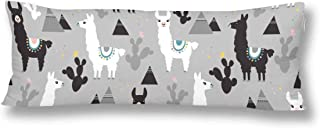 INTERESTPRINT Llama Cactus and Mountains Body Pillow Covers 21x60 Inch Twin Sides, Pillow Case Protector Pillowcase for Bedding Decor