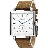 FEICE Sapphire Crystal Square Automatic Watch Classic Bauhaus Watch Minimalist Casual Watches for...