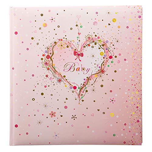 Goldbuch Babyalbum, Pink Heart, 30 x 31 cm, 60 weiße Seiten mit Pergamin-Trennblättern, Kunstdruck mit Goldprägung und Relief, Rosa,...