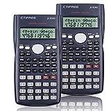 Splaks 2-Line Engineering Scientific Calculator Function Calculators Suitable for School Business (2 Dark Blue)