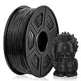 PETG Filament 1,75 mm, PETG 3D Druckerfilament, PETG Filament 1KG (2,2 lb) PETG Schwarz -