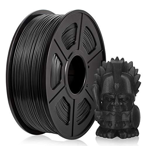 PETG Filamento 1,75 mm, PETG Filamento Impresora 3D, PETG Filamento 1 KG (2,2 lb) PETG Negro