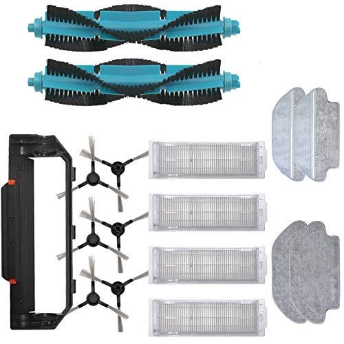 Partes de repuesto de aspirador principal cepillo lateral desechable trapeador Rag fit para xiaomi viomi V2 Pro V3 Mop filtro HEPA V-RVCLM21B Partes de aspirador de repuesto accesorios