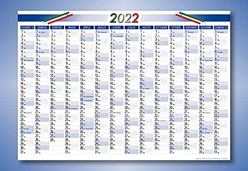 2 pezzi calendario anno - Planner poster Calendari per Italia 2022