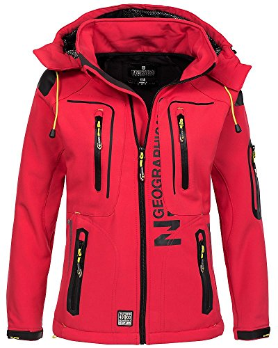 Geographical Norway Geographical Norway Damen Softshelljacke Tassion Kapuze, Stehkragen coral/anis S