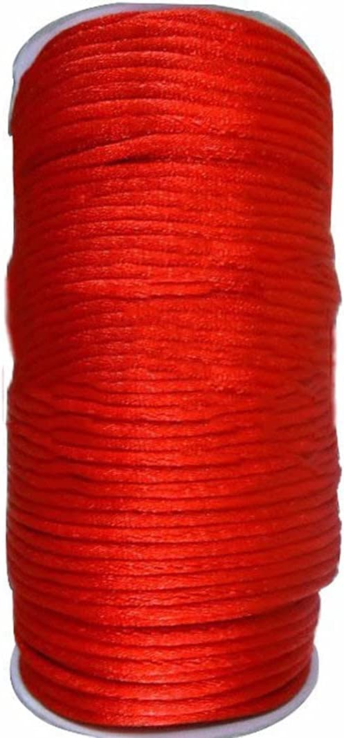 FC-05406 DIY-Jewelry 2mm Red Nylon Accesso Cord Jewelry Bargain Findings Nippon regular agency