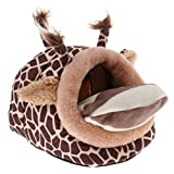 Homyl Nid de Hamster en Tissu Doux Forme Animal avec Tapis Maison pour Cochon d'Inde Chinchilla Ecureuil - #3
