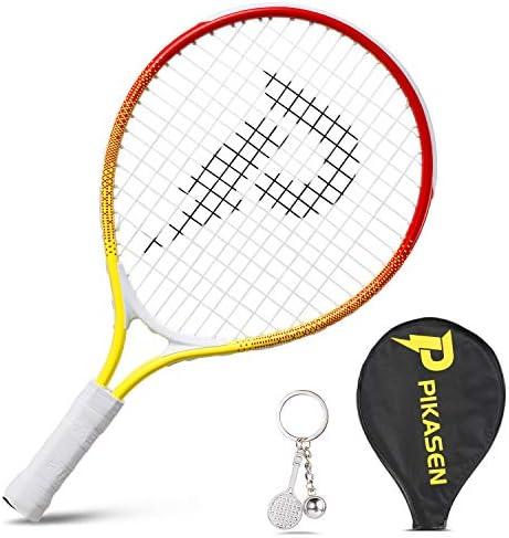 PIKASEN 17 Kids Tennis Racket Best Starter Kit for Kids Age 4 and Under with Shoulder Strap product image