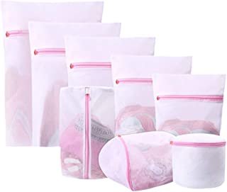 TOPBATHY 8pcs Foldable Zippered Mesh Laundry Bags Bra Lingerie Panties Washing Bags Washing Machine Clothes Protection Net