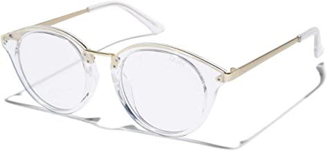 Quay Australia Women's Gotta Run Round Blue Light Blocking Glasses