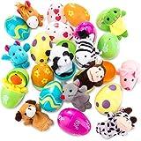 Chuangdi 15 Pezzi Uova di Pasqua Riempite con Marionette da Dito...