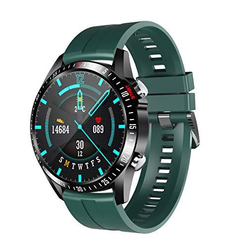 QNMM MV55 Sports Smart Watch, Llamada Bluetooth Impermeable IP67 Frecuencia Cardíaca Presión Arterial Monitoreo de Temperatura En Tiempo Real Pulsera Inteligente para Hombres