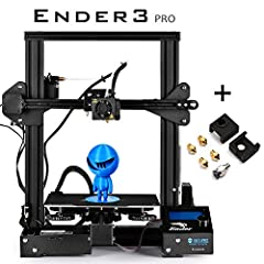 【New Version】 Ender-3 PRO is an upgraded version of Ender-3, comes with Mean Well power supply and new platform sticker, also redesigned the aluminum extrusion. The Ender-3 PRO boasts the same outstanding performance as the Ender-3, upgraded componen...