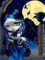 大人の子供のための初心者のクロスステッチ刺繡キット11CT・漫画の女の子・工芸品教育ジグソー針仕事家の装飾ギフト