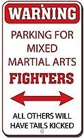アルミニウム金属看板おかしい警告駐車場格闘技の戦闘機他のすべての人が尾を蹴るだろう看板有益な目新しさ壁アート垂直
