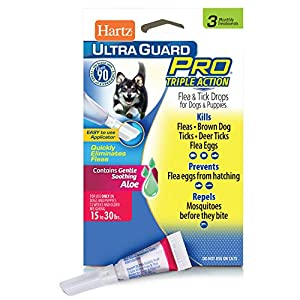Hartz UltraGuard Pro Topical Flea & Tick Prevention for Dogs and Puppies – 15-30 lbs, 3 Monthly Treatments