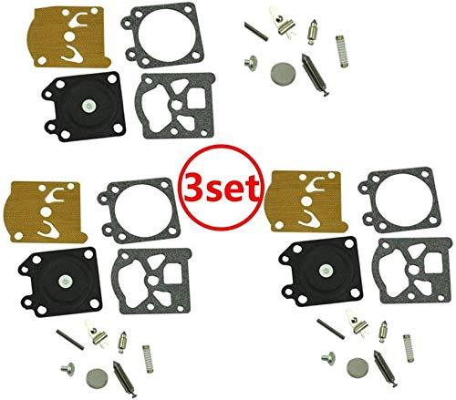 Wai Danie Juego de 3 diafragma de reparación de carburador Compatible con Stihl 024 026 MS260