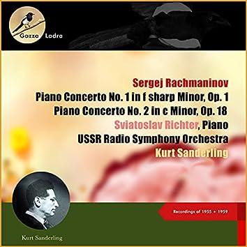 Sergej Rachmaninov: Piano Concerto No. 1 In F Sharp Minor, Op. 1 - Piano Concerto No. 2 In C Minor, Op. 18 (Recordings of 1955 + 1959 (10ter Todestag/10th Deathday))