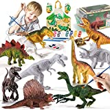 TEMI Kids Dinosaur Toy Painting Kit, Arts and Crafts Set-Decorate Your Dinosaur, Create a Dinosaur World Painting Toys Gifts for 4, 5, 6, 7, 8 Year Old Kids Boys Girls Toddlers